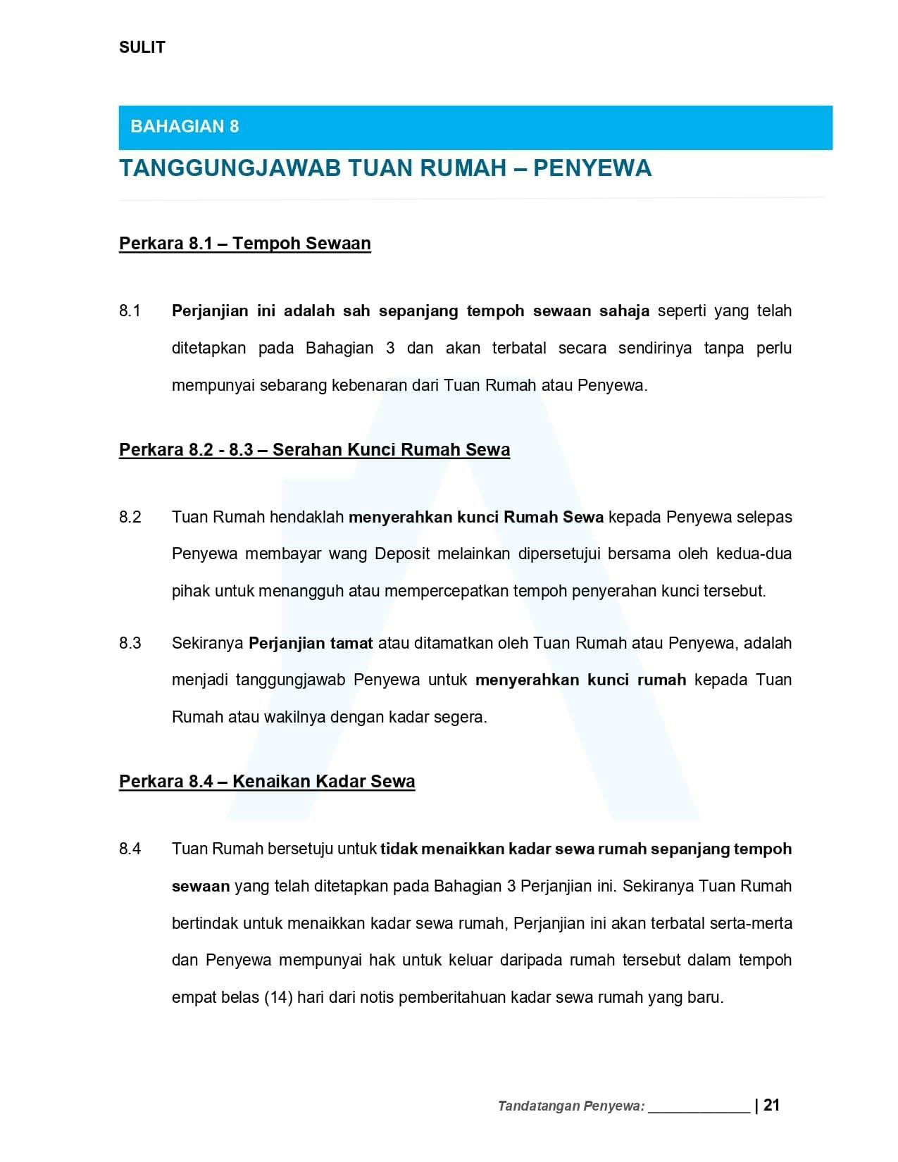 Tanggungjawab  - Contoh Surat Perjanjian Sewa Rumah 2021 | Tenancy Agreement Malaysia